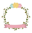 colorful ornament creepers with flowers and pink vector image vector image