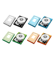 Colorful Set of Computer Hard Disk vector image