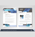 corporate identity template brochure vector image vector image