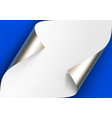 curled metalic silver platinum corners of vector image vector image