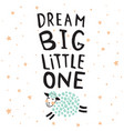 dream big sheep vector image vector image