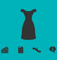 dress icon flat vector image vector image