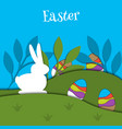 easter egg card banner background cut out vector image vector image