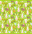 easter seamless pattern with white bunny vector image vector image