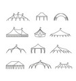 event and wedding outdoor marquee tents vector image vector image