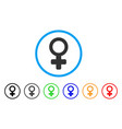 female symbol rounded icon vector image