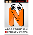 funny letter n cartoon vector image vector image
