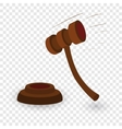 Gavel cartoon vector image vector image