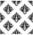 Geometric arabesque pattern with floral motif vector image vector image