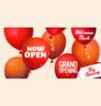 grand opening festive event invitation banner vector image