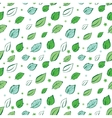 Green Leaves Diagonal Seamless Pattern vector image vector image