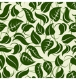 Green seamless pattern with leaves vector image vector image