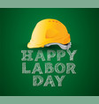 happy labor daynational day design vector image