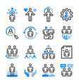 human resource icon set vector image vector image