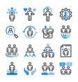 human resource icon set vector image