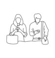 husband and wife ignoring each other vector image vector image