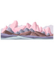 landscape with mountains and rigid surface vector image vector image