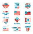 made in usa flag emblem set vector image