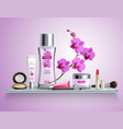 makeup realistic composition vector image vector image