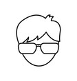 man wearing glasses icon vector image vector image
