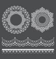 mandala lace pattern and horizontal design vector image