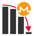 monero epic fail chart flat icon vector image vector image