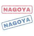 nagoya textile stamps vector image vector image