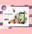 navigator website landing page design vector image vector image