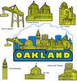 oakland california building and landmarks vector image vector image