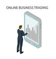 online business trading top vector image