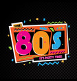 party time the 80s style label vector image vector image