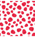 pattern with cute raspberry vector image