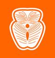 piece salmon fish white icon vector image
