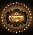 poker vip gold vector image