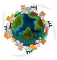 pollution on earth concept vector image vector image