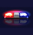 realistic red blue flashers emergency vector image vector image