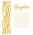 realistic twisted spaghetti pasta vector image