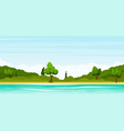 rural summer landscape vector image vector image
