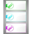 set of colorful stickers with paper card vector image vector image