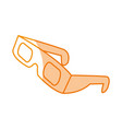 silhouette 3d glasses to see movie in the cinema vector image vector image