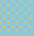 simple seamless pattern with crowns and heart for vector image