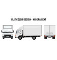 small truck front side cargo delivery vector image