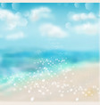 spring and summer watercolor ocean background vector image vector image