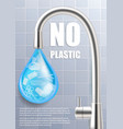 stop plastic pollution concept poster vector image vector image