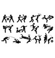 street fighting attacking stance basic hits are vector image vector image