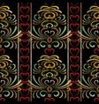 tapestry floral striped seamless pattern vector image