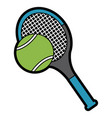 tennis racket and ball equipment sport vector image vector image