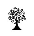 tree life icon black tree natural logo ecology vector image