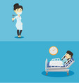 two medical banners with space for text vector image vector image