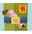 Valentines day Love gun Military clothing and vector image vector image